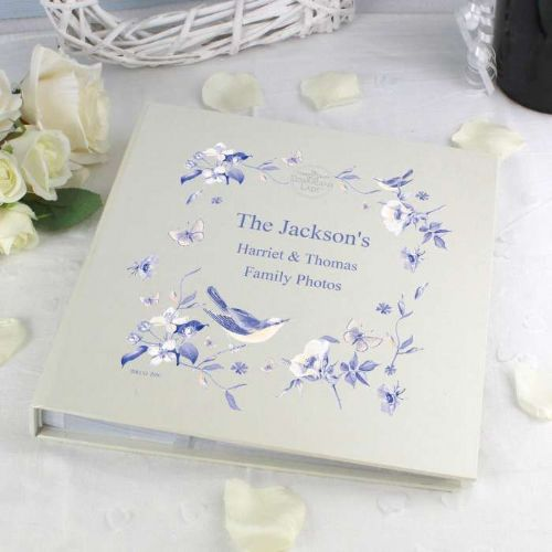 Personalised Country Diary Blue Blossom Album with Sleeves